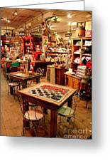 Checkers At Jefferson General Store Greeting Card