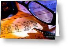 Checking Account Statement Greeting Card