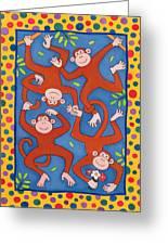 Cheeky Monkeys Wc Greeting Card