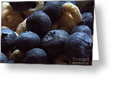 Cheerios And Blueberries Greeting Card