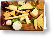 Cheese And Fruit Greeting Card