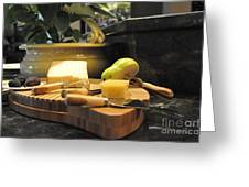 Cheeses And Fruit Greeting Card