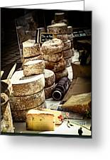 Cheeses On The Market In France Greeting Card by Elena Elisseeva