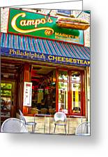 Cheesesteak Greeting Card by Frank Savarese