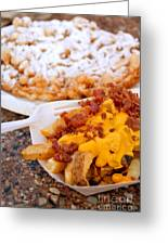 Cheesy Bacon Fries And Funnel Cake Greeting Card