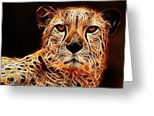 Cheetah Artwork Greeting Card