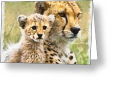 Cheetah Two Greeting Card
