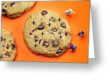 Chef Depicting Thomson Atomic Model By Cookies Food Physics Greeting Card