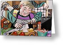 Chef With Heart Greeting Card