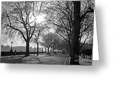 Chelsea Embankment London 2 Uk Greeting Card