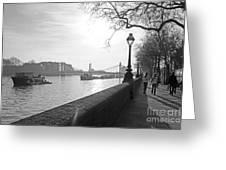 Chelsea Embankment London Uk 3 Greeting Card