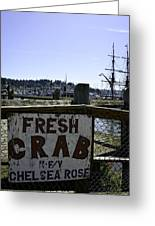 Chelsea Rose Crab Greeting Card