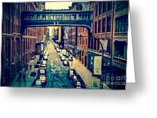 Chelsea Street As Seen From The High Line Park. Greeting Card