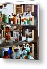 Chemistry - Bottles Of Chemicals Greeting Card