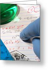 Chemistry Formulas In Science Research Lab Greeting Card