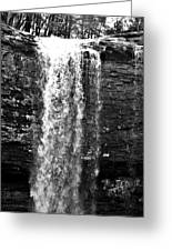 Cherokee Falls In Monochrome Greeting Card