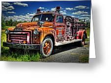 Cherokee Fire Truck Greeting Card