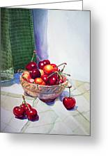 Cherries Greeting Card by Irina Sztukowski