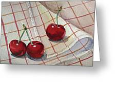 Cherry Talk By Irina Sztukowski Greeting Card