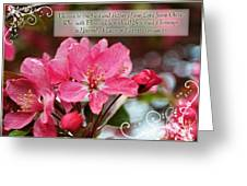 Cherry Blossom Greeting Card With Verse Greeting Card