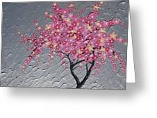 Cherry Blossom In Pink Greeting Card