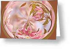 Cherry Blossom Orb Greeting Card