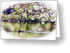 Cherry Blossom Rower Greeting Card