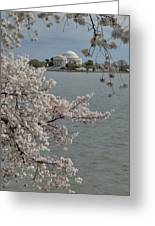 Cherry Blossoms With Jefferson Memorial - Washington Dc - 011321 Greeting Card by DC Photographer