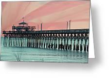 Cherry Grove Fishing Pier Greeting Card