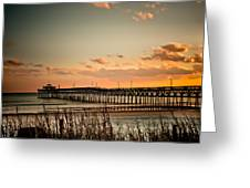 Cherry Grove Pier Myrtle Beach Sc Greeting Card