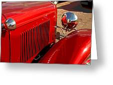 Cherry Red Ford Greeting Card