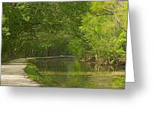 Chesapeake And Ohio Canal Towpath Greeting Card