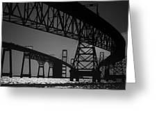 Chesapeake Bay Bridge At Annapolis Greeting Card by Skip Willits