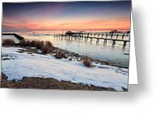 Chesapeake Bay Freeze Greeting Card