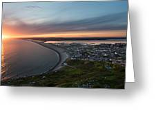 Chesil Beach Sunset  Greeting Card