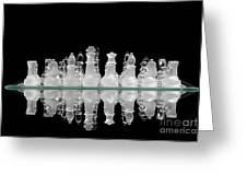 Chess Game Reflection Greeting Card