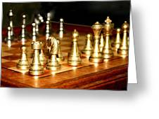 Chess Set  Greeting Card by Diane Merkle