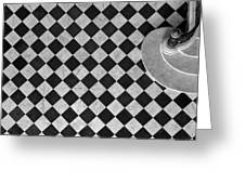 Chessboard Staircase Greeting Card