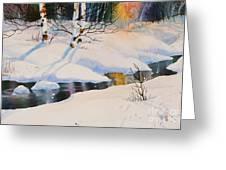 Chester Creek Shadows Greeting Card