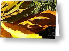 Chestnut Abstract Greeting Card