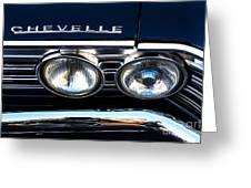 Chevelle Headlight Greeting Card