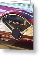 Chevrolet Belair Nomad Dashboard Greeting Card