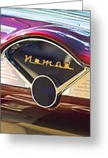 Chevrolet Belair Nomad Dashboard Greeting Card
