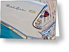 Chevrolet Bel-air Taillight Greeting Card