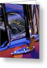 Chevrolet Belair Dash Board Emblem -754c Greeting Card