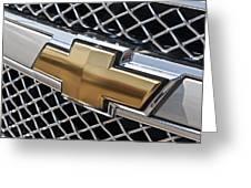 Chevrolet Bowtie Symbol On Chevy Silverado Grill E181 Greeting Card