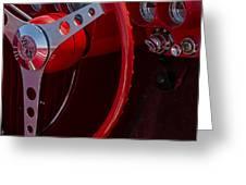 Chevrolet Corvette Red 1962 Greeting Card