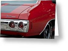 Chevrolet Chevelle Ss Taillight Emblem 3 Greeting Card