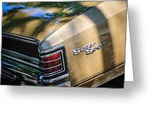 Chevrolet Chevelle Ss Taillight Emblems Greeting Card