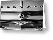 Chevrolet Corvair Emblem -0082bw Greeting Card